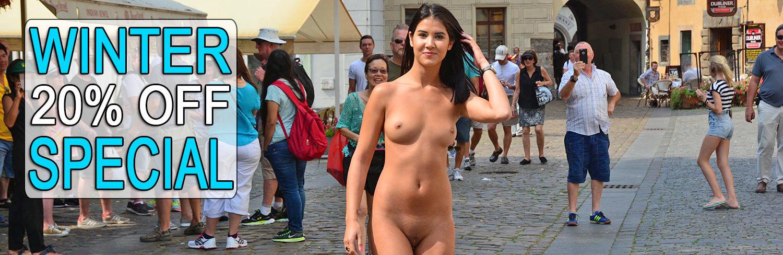 nude in public dvd store